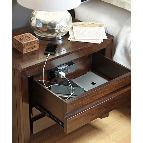 Harlow Nightstand w/ Charging Station - Skylar's Home and Patio