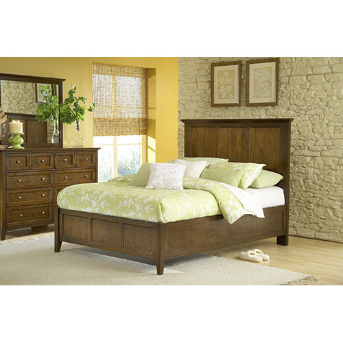 Tarah Panel Bed/Truffle - Skylar's Home and Patio