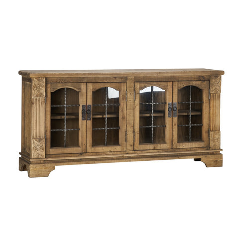 Portman 4Dr Cabinet Natural - Skylar's Home and Patio