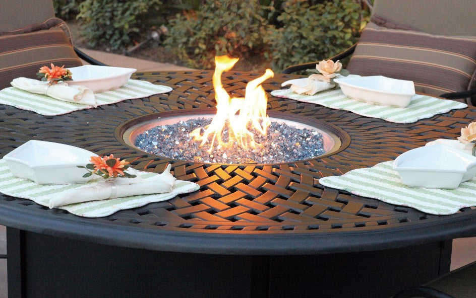 52 Round Propane Fire Pit Chat Table Skylars Home and Patio