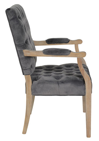 Rosalind Arm Chair Steel - Skylar's Home and Patio