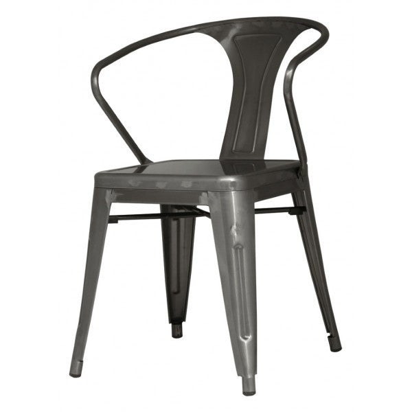 Metropolis Metal Arm Chair - Skylar's Home and Patio