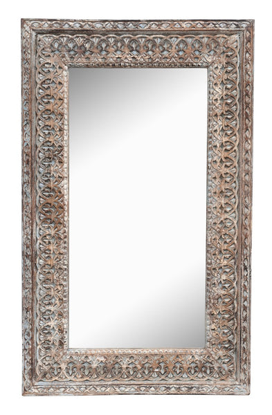 Wd Crvd Mirror Frame - Skylar's Home and Patio