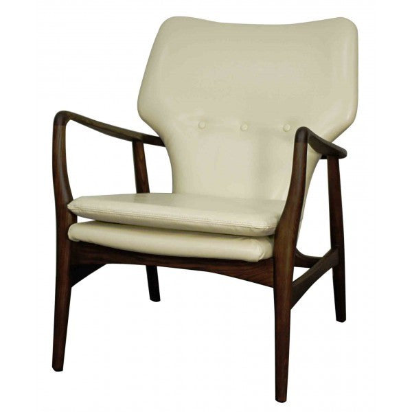 Colin Bonded Leather Arm Chair Dark Walnut Legs - Skylar's Home and Patio