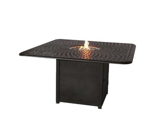 "64"" Square Propane Fire Pit Dining Table"