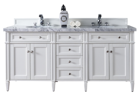 "Brittany 72"" Double Vanity Cabinet - Skylar's Home and Patio"