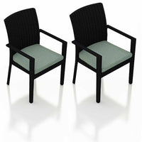 Urbana Coffee Bean Dining Arm Chair (Set of 2) - Skylar's Home and Patio