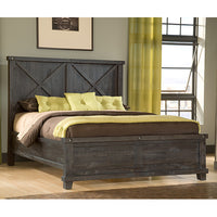 Limor Wood Bed - Skylar's Home and Patio