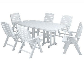 Polywood Dining Set San Diego: POLYWOOD® 7 Pc. Nautical Dining Set