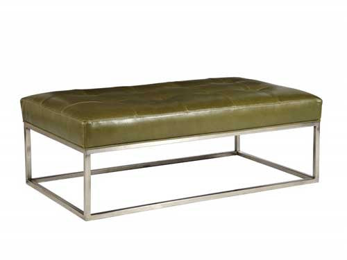Copley Metal Cocktail Ottoman - Skylar's Home and Patio