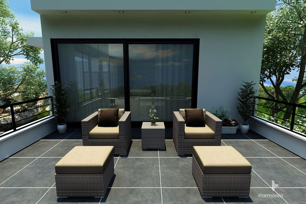 District 5 Pc. Club Chair Set - Skylar's Home and Patio