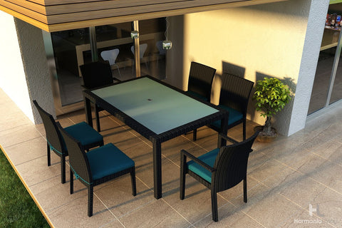 Urbana Coffee Bean 8-Seater Rectangular Dining Table - Skylar's Home and Patio