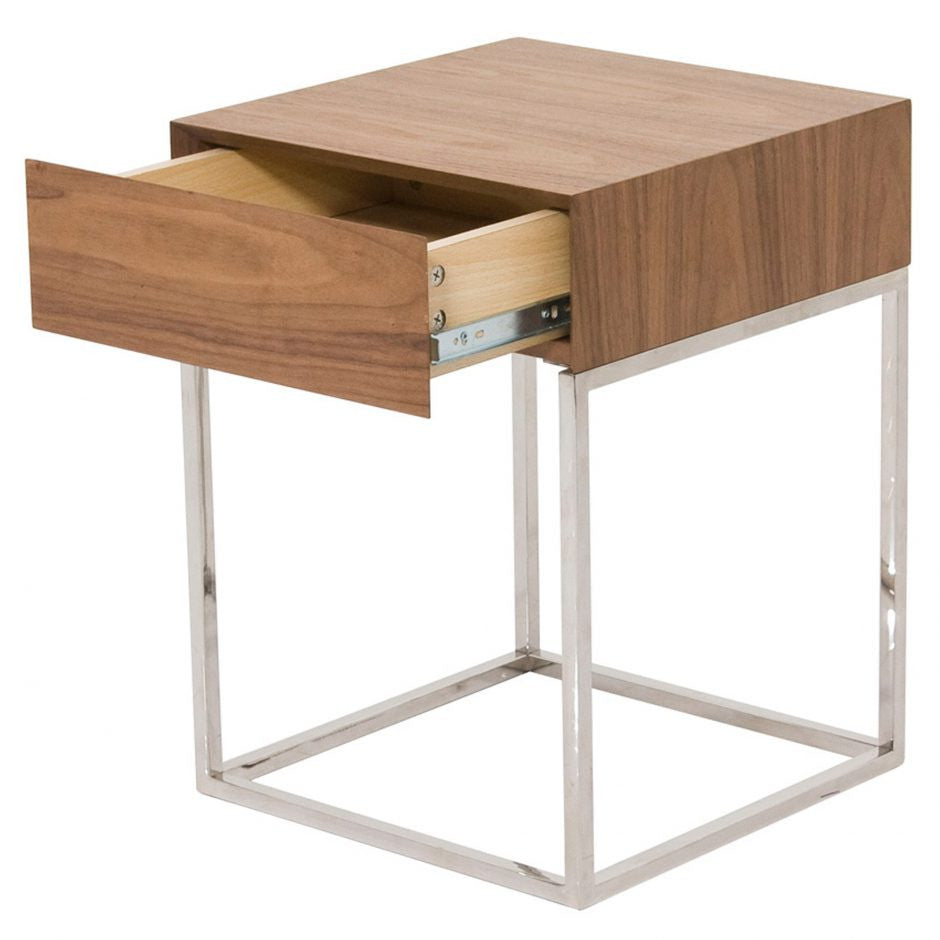 Chio Sidetable Walnut - Skylar's Home and Patio