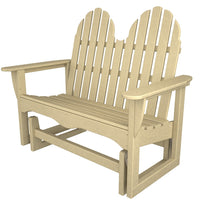 "Polywood Classic Adirondack 48"" Gliding Bench - Skylar's Home and Patio"