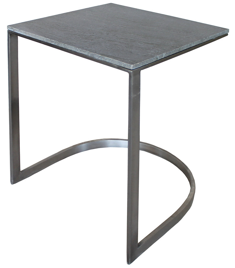 Side Table Gray Marble - Skylar's Home and Patio
