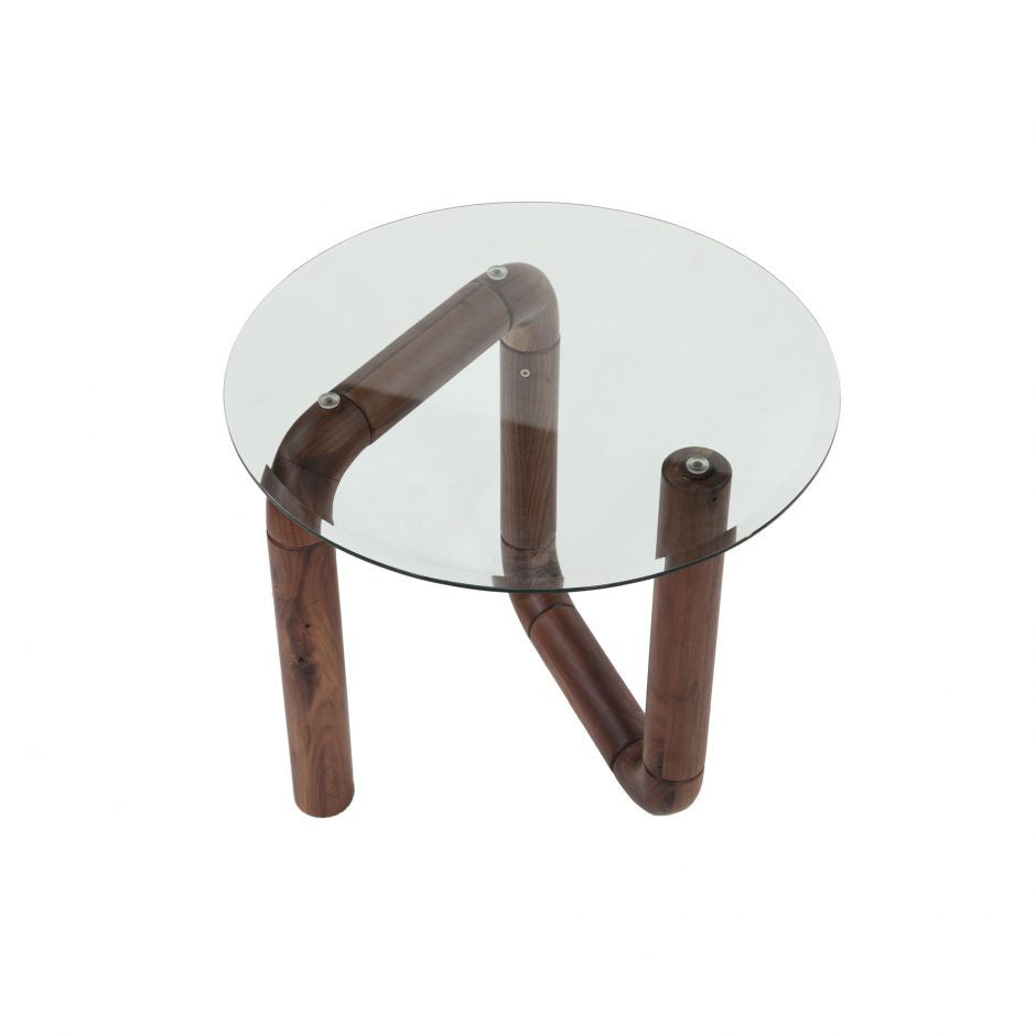 Boa Side Table Walnut - Skylar's Home and Patio