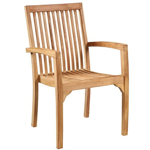 Stacking Teak Dining Chair - Skylar's Home and Patio