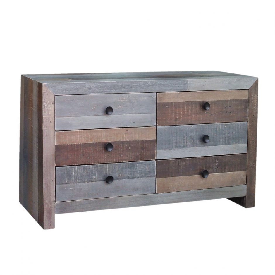 Vintage 6 Drawer Dresser Grey - Skylar's Home and Patio