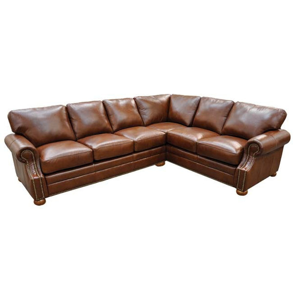 Bennett Leather Sectional - Skylar's Home and Patio