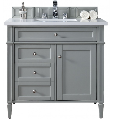 "Brittany 36"" Single Vanity Cabinet - Skylar's Home and Patio"