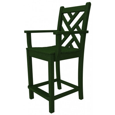 Polywood Counter Stools San Diego: Chippendale Counter Arm Chair