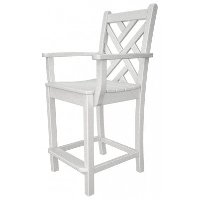 POLYWOOD® Chippendale Counter Arm Chair - Skylar's Home and Patio