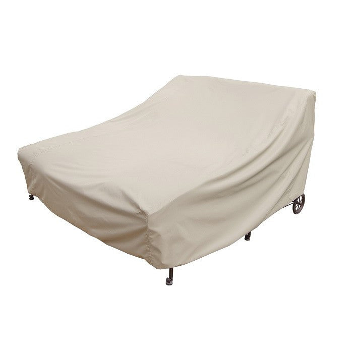 Double Chaise Lounge with elastic and 4 ties - Protective Furniture Covers