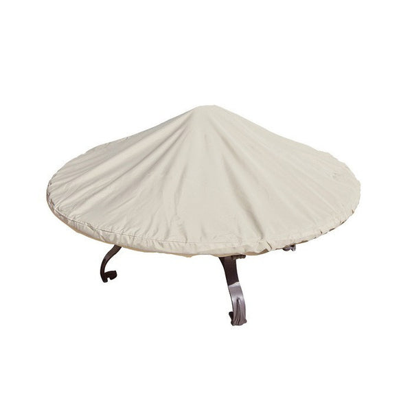 "Fits all 48""-60"" Round Chat & Fire Pits w/ elastic & spring cinch lock - Protective Furniture Covers"