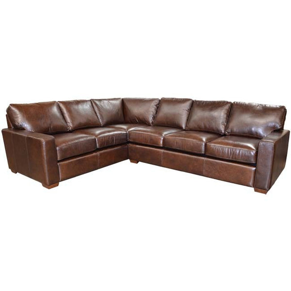 Angie Leather Sectional - Skylar's Home and Patio