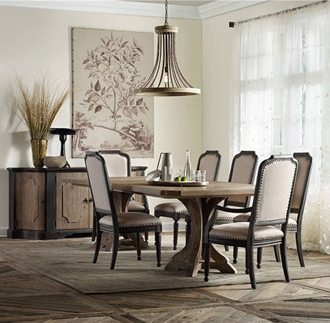 Corsica 7pc Dining Set by Hooker Furniture - Skylar's Home and Patio