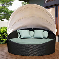 Wink Canopy Day Bed - Coffee Bean - Skylar's Home and Patio