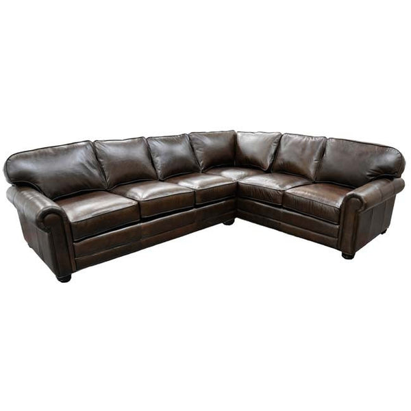 Frisco Leather Sectional - Skylar's Home and Patio