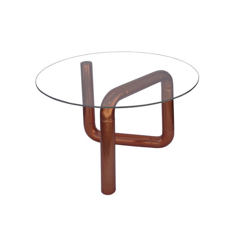 Boa Side Table Rose Gold - Skylar's Home and Patio