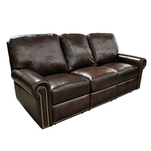Fairfield Leather Reclining Sofa - Skylar's Home and Patio