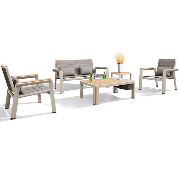 Geneva 5pc Modern Lounge Set by Indo Soul