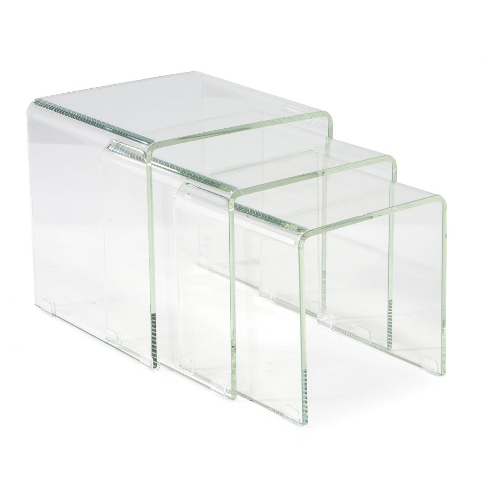 Covo Tables Set Of 3 Glass - Skylar's Home and Patio