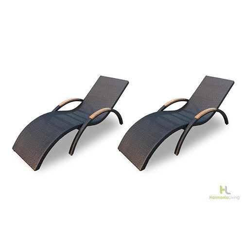 2 Pc. Arbor Stackable Chaise Lounge Set - Skylar's Home and Patio
