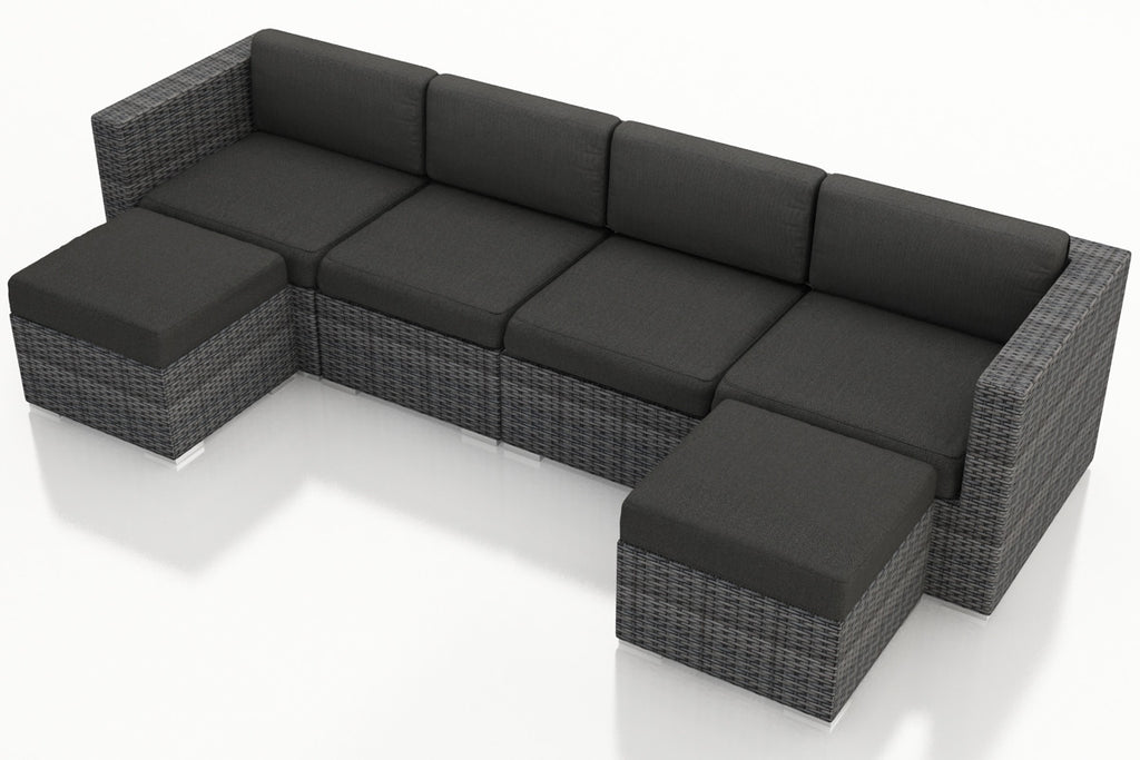 District 6 Pc. Double Chaise Sectional