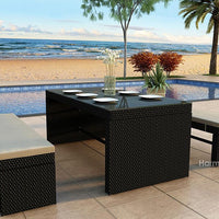 3 Pc. Skyline Bench Patio Dining Set - Skylar's Home and Patio
