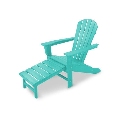 POLYWOOD® Palm Coast Ultimate Adirondack with Hideaway Ottoman - Skylar's Home and Patio