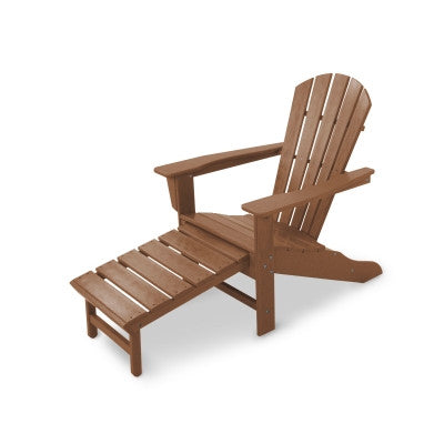 POLYWOOD® Palm Coast Ultimate Adirondack with Hideaway Ottoman