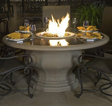 Inverted Dining Firetable w/Granite Inset - Skylar's Home and Patio