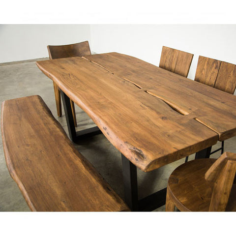 Lukas Live Edge Dining Set - Skylar's Home and Patio