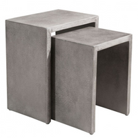 Mom Nesting Side Tables Cement - Skylar's Home and Patio