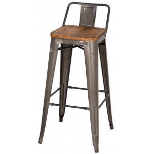 Metropolis Low Back Barstool