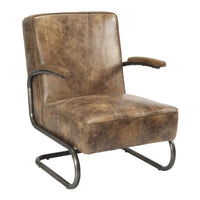 Perth Club Chair Light Brown - Skylar's Home and Patio