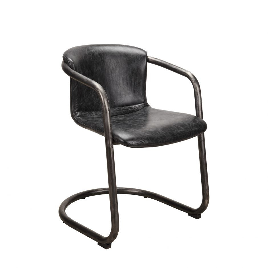 Freeman Dining Chair Antique Black-M2 - Skylar's Home and Patio