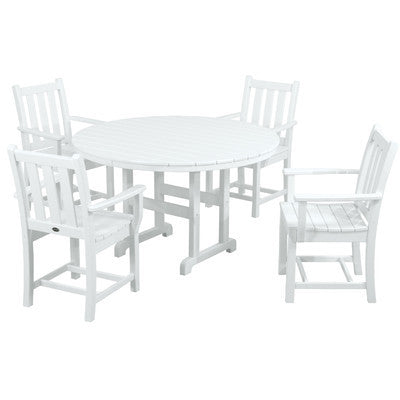 POLYWOOD® 5 Piece Traditional Garden Dining Set - Skylar's Home and Patio