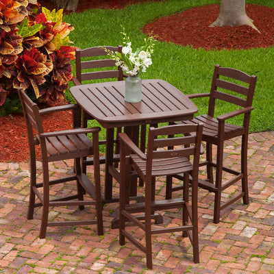 Polywood Bar Set San Diego: POLYWOOD® La Casa Cafe 5pc Bar Set