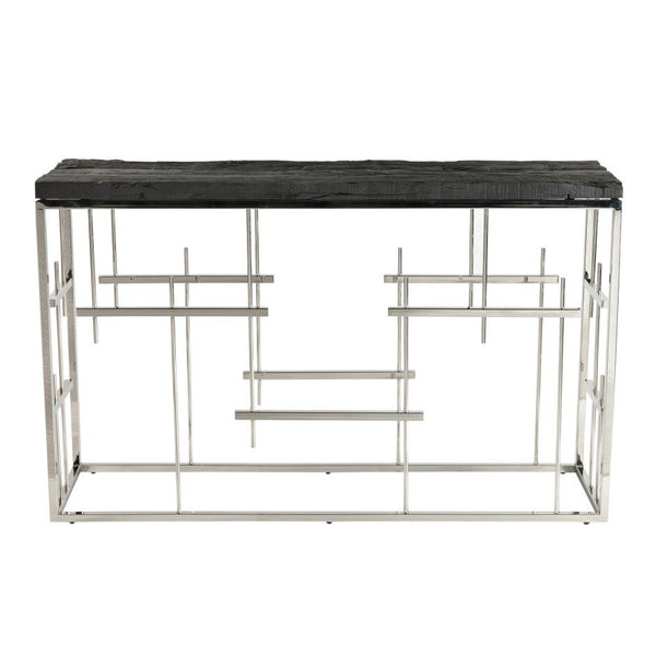 Morpheus Console Table Charcoal - Skylar's Home and Patio